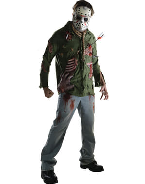 Mens murderer Jason Friday the 13th deluxe costume