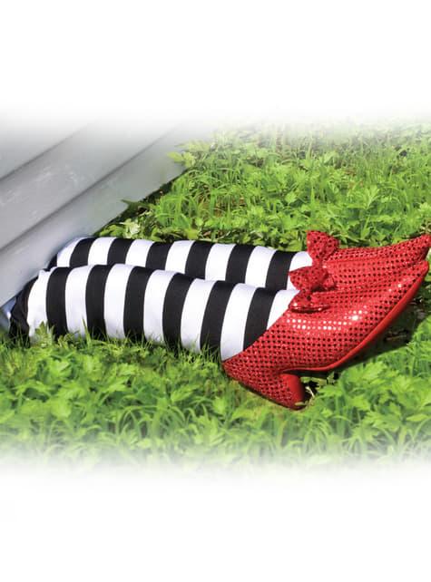 Pernas decorativas da bruxa do Oeste do Feiticeiro de Oz