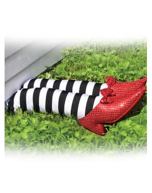 Jambes décoration La sorcière de l'Ouest Le Magicien d'Oz