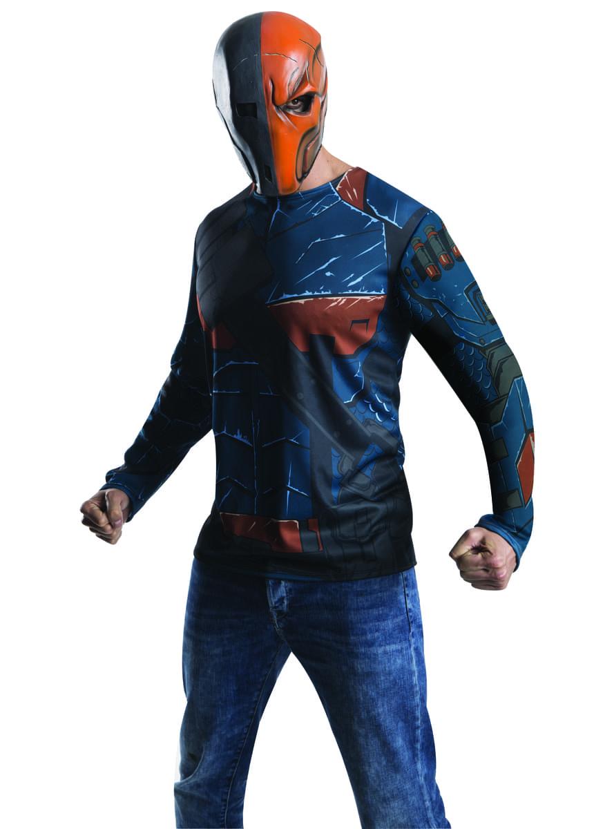 Mens Deathstroke Arkham franchise costume kit. Detalle Zoom  sc 1 st  Funidelia & Mens Deathstroke Arkham franchise costume kit