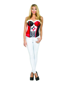 Harley Quinn sexy korset til kvinder
