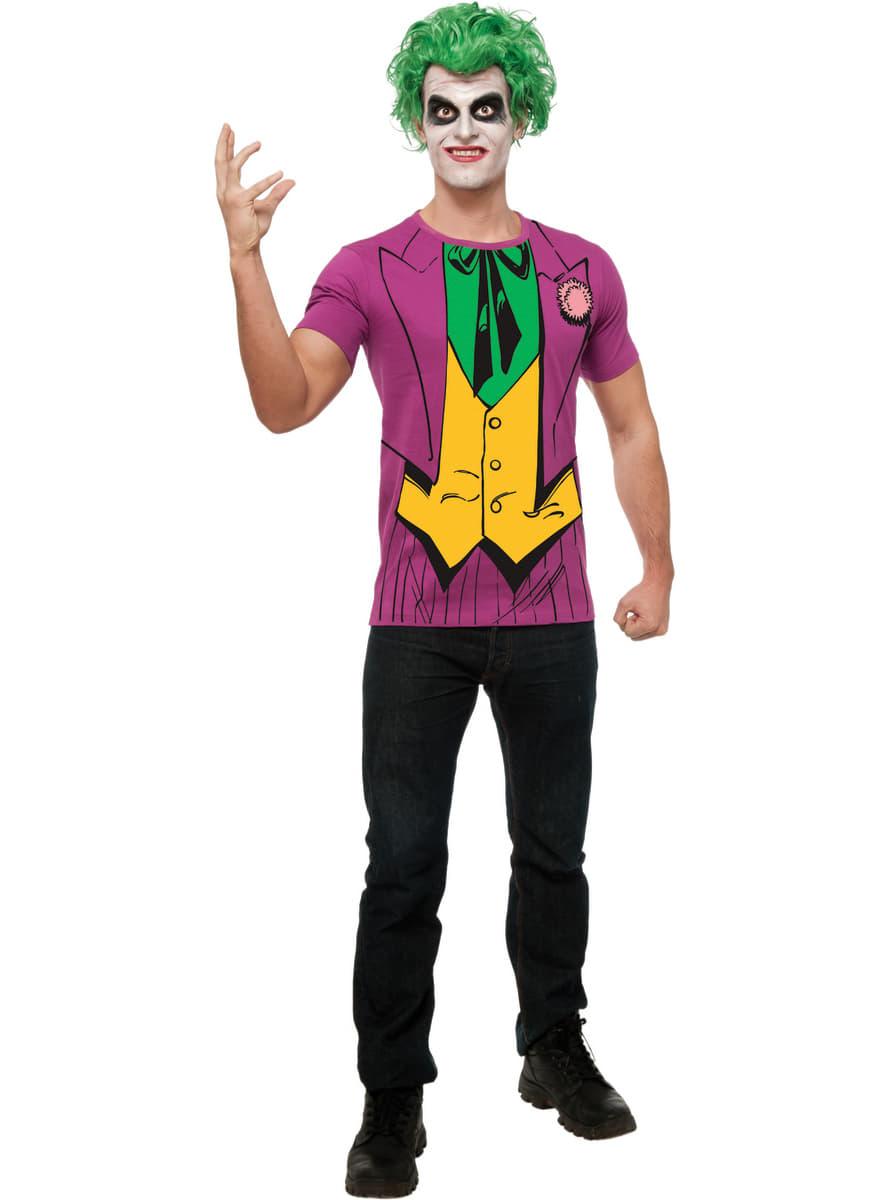 Kit disfraz del joker dc comics para hombre funidelia - Disfraz joker casero ...