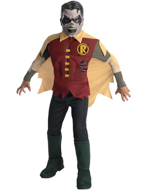 Childrens Robin Blackest Night zombie deluxe costume