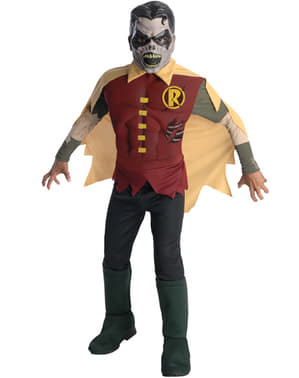 Blackest Night Zombie Robin Deluxe maskeraddräkt Barn