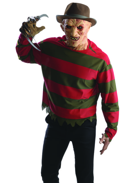 Mens Freddy Krueger Nightmare on Elm Street costume kit