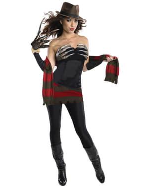Terror på Elm Street Sexig Miss Freddy Krueger Maskeraddräkt Vuxen