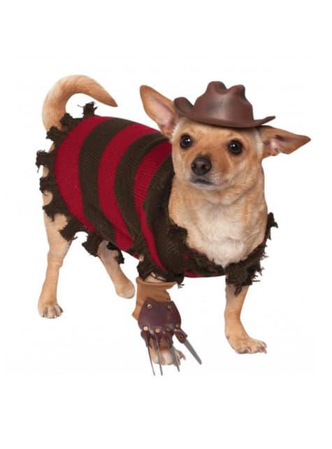 Disfraz de Freddy Krueger para perro