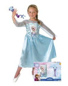 93f229005619a5 Déguisement Elsa La reine des Neiges avec micro boîte Vitrine fille