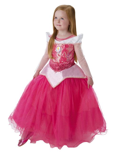 Disfraz de Aurora Bella Durmiente prestige para niña