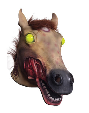 Masque lumineux cheval zombie