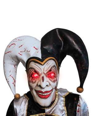 Ondskabsfuld Harlekin lysende maske