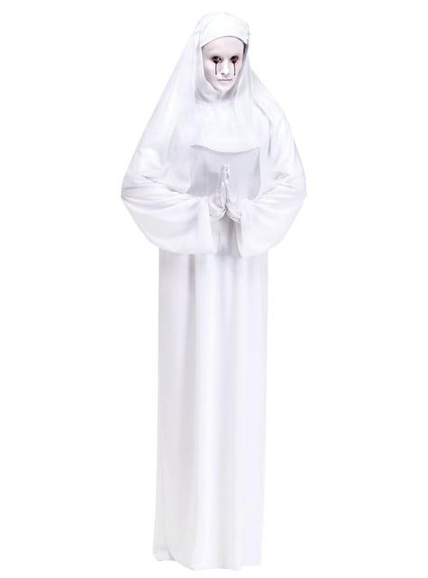 Disfraz de monja del terror para mujer