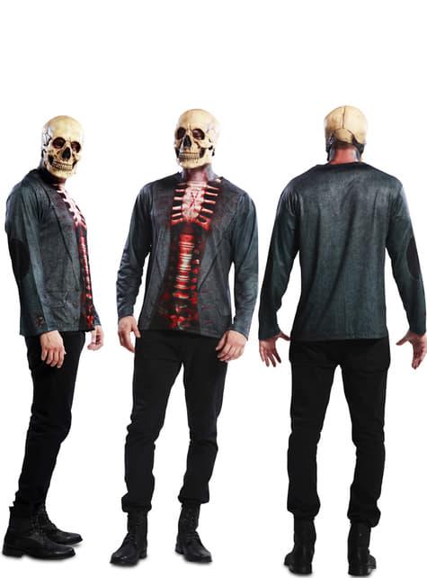 Camiseta de esqueleto sangriento para hombre