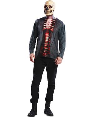 Blodigt skelet t-shirt til mænd