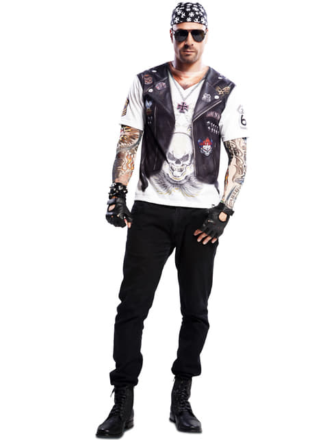 Mens Heavy Metal Biker T-shirt