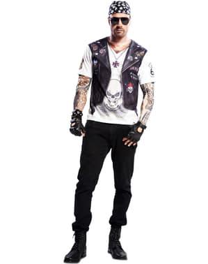 Maglietta motociclista heavy uomo