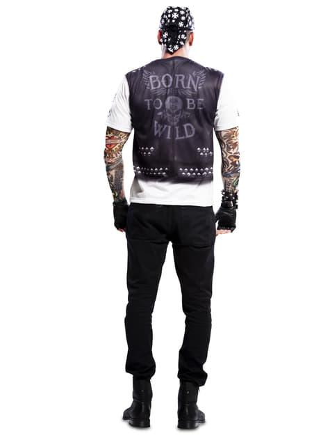Camiseta de motero heavy para hombre - traje