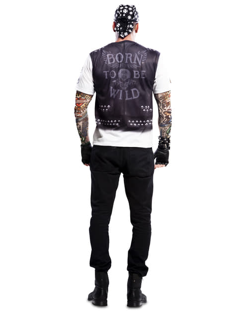 Camisola de motoqueiro heavy para homem