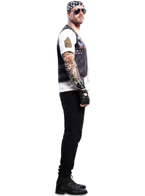Muška majica s motociklima iz teškog metala