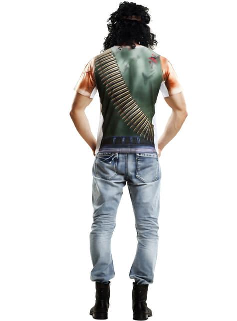 Camisola de guerrilheiro ferido para homem