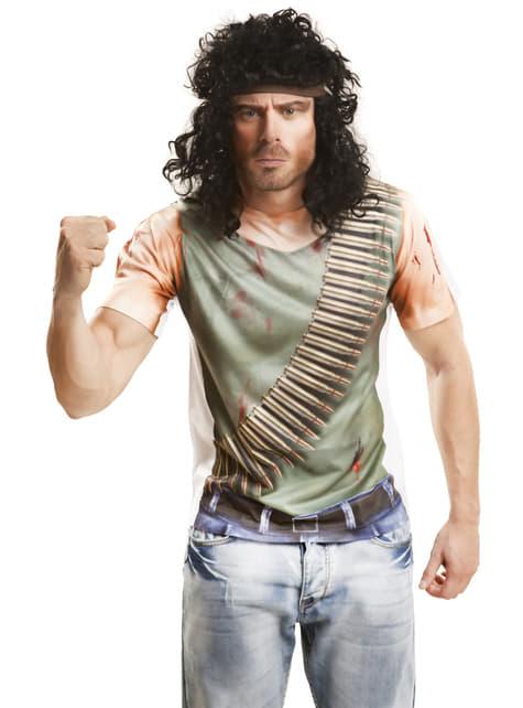 Ανδρικό τραυματίστηκε Guerrilla T-shirt