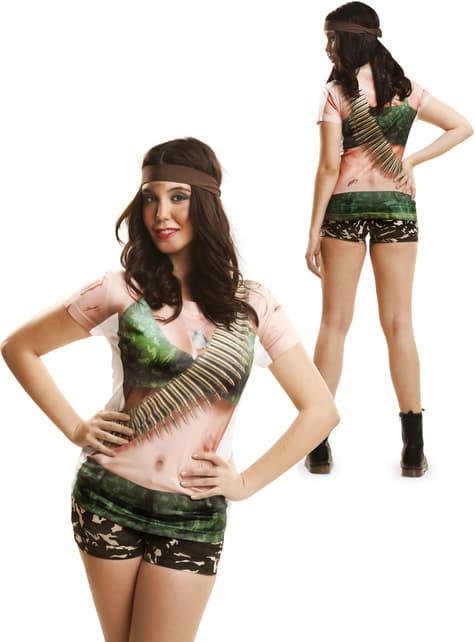 Camiseta de guerrillera sexy para mujer