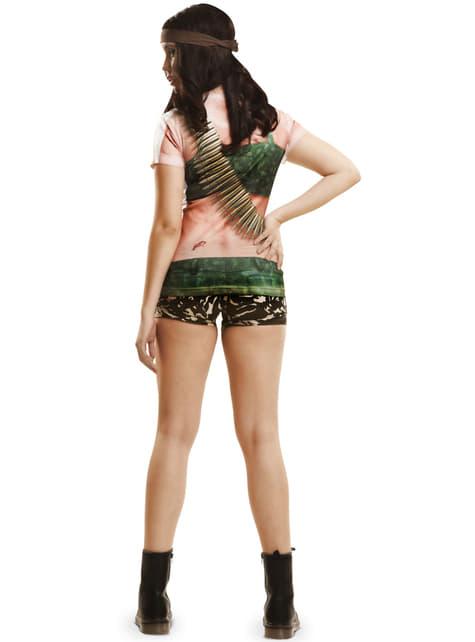 Camiseta de guerrillera sexy para mujer - traje