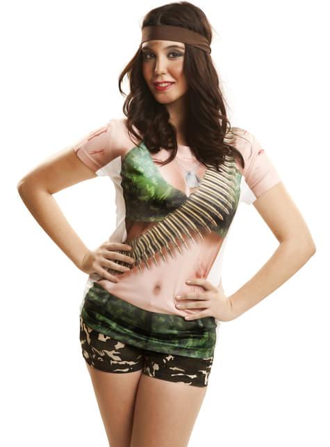 Camiseta de guerrillera sexy para mujer - Carnaval