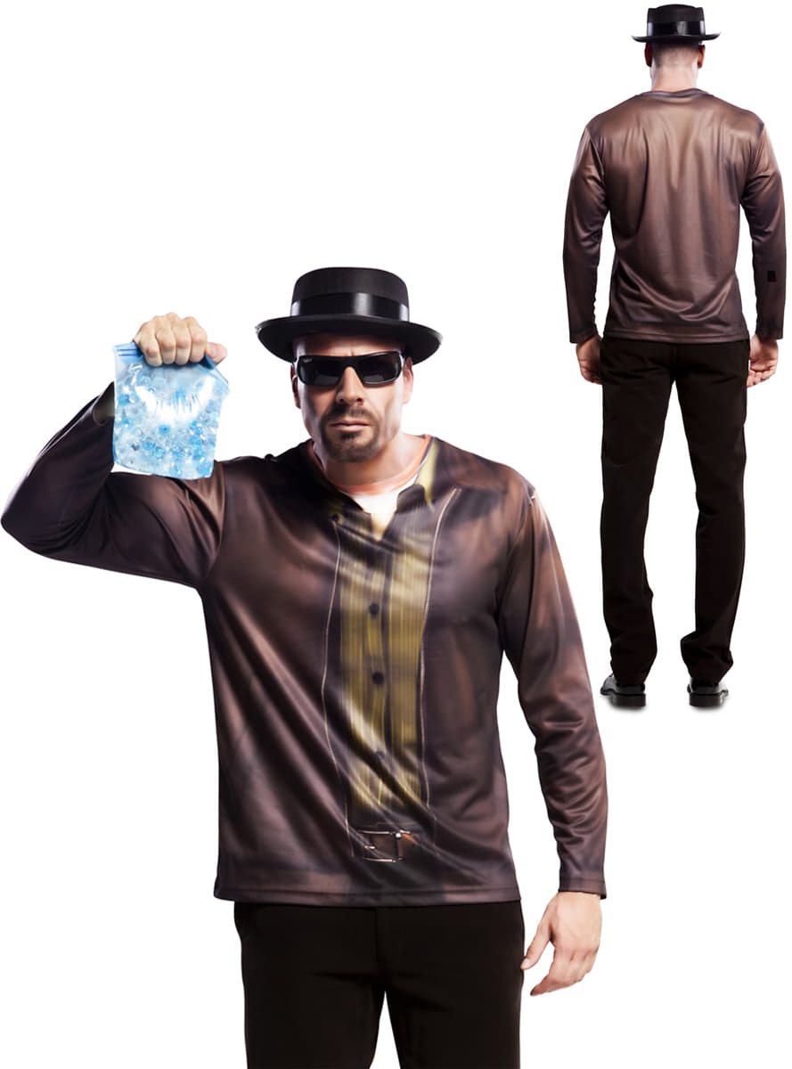 t shirt walter white breaking homme. Black Bedroom Furniture Sets. Home Design Ideas