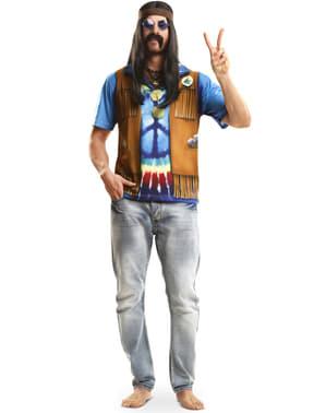 גברים פסטיבל ההיפים חולצת טריקו