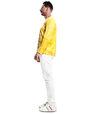 Freddie Mercury βασίλισσα κίτρινο πουκάμισο