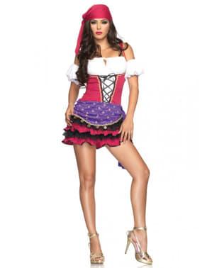 Roze/ paarse zigeunerin Kostuum voor vrouw