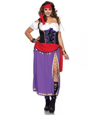 Sigøyner Kostyme til Damer Plusstørrelse