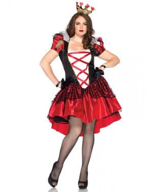 Costum regina de inimă roșie pentru femeie mărime mare
