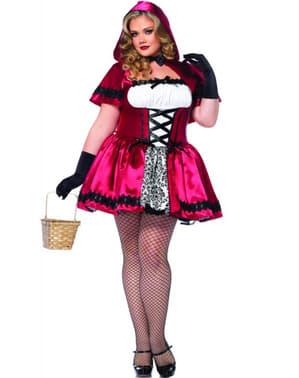 Déguisement Petit Chaperon Rouge gothique femme grande taille