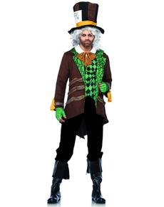 Disfraz de Sombrerero Loco marrón para hombre