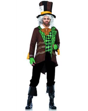 Galen hattmakaren Brun Maskeraddräkt Herr