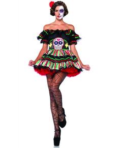 Disfraz de Muñeca Catrina del día de la Muerte para mujer