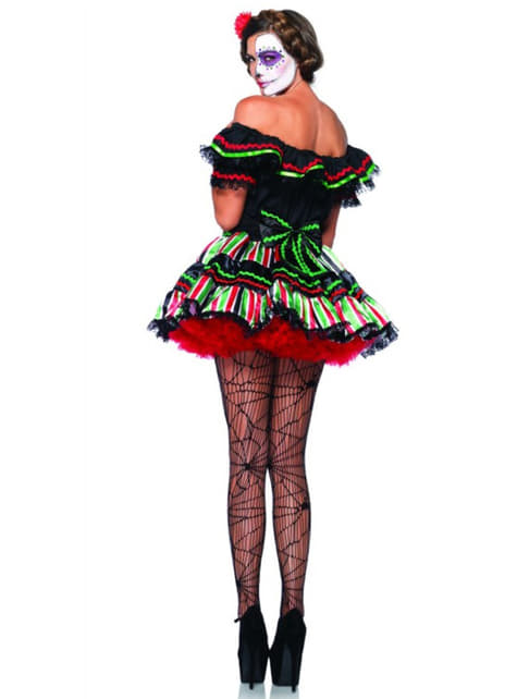 Catrina day of the dead costume for a woman