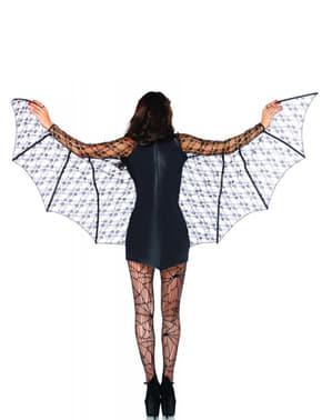 Déguisement chauve souris ailes femme
