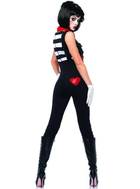 Marvellous mime artist costume for women