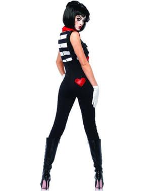 Strålende Mime artist Kostyme for Dame