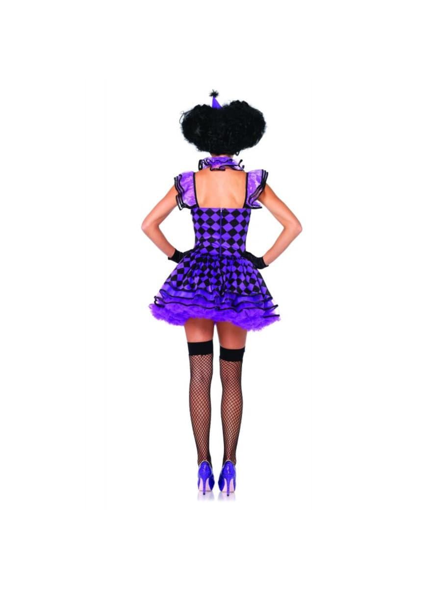 pariserische sch ne clownin f r damen f r kost m funidelia. Black Bedroom Furniture Sets. Home Design Ideas