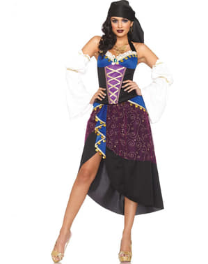Sorcerer gypsy costume for a woman