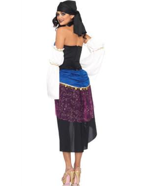 Blauw/ zwarte zigeunerin Kostuum voor vrouw
