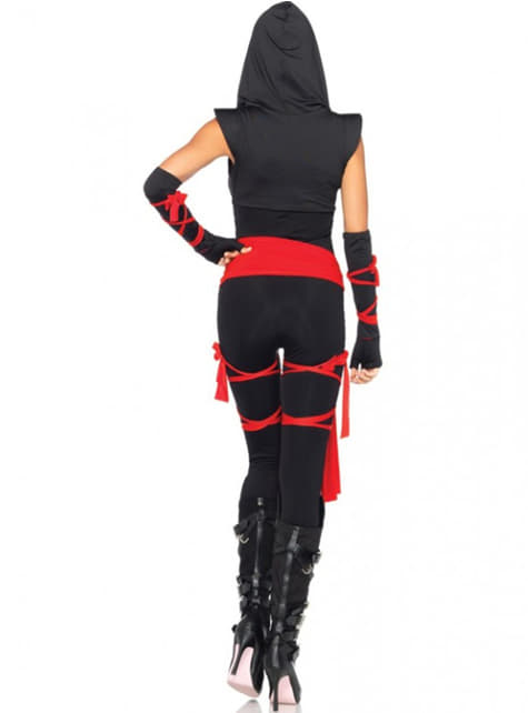 Deadly ninja costume for women