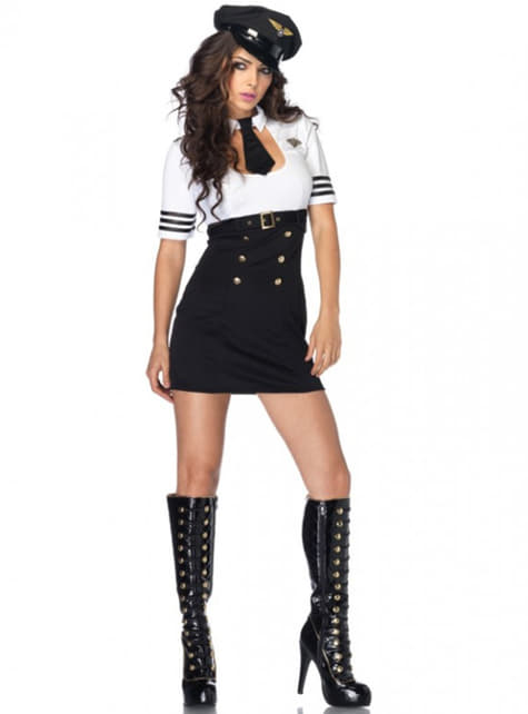 Erste Klasse Pilotin Kostüm für Damen
