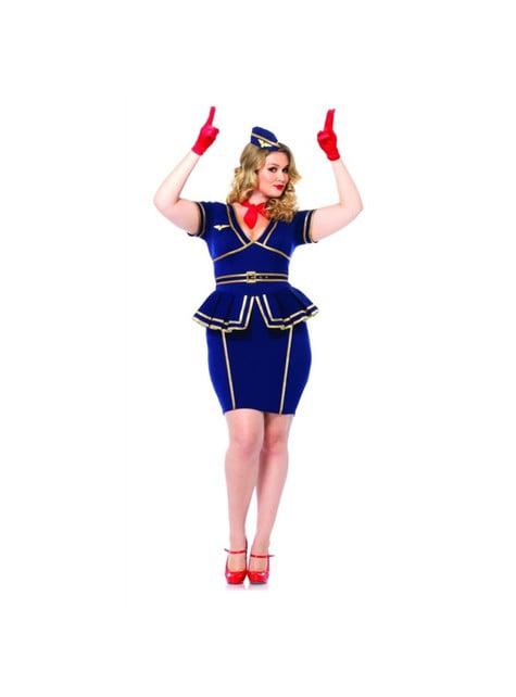 Disfraz de azafata de vuelo sexy para mujer - mujer