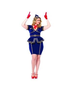 Costum de stewardeză de zbor pentru femeie