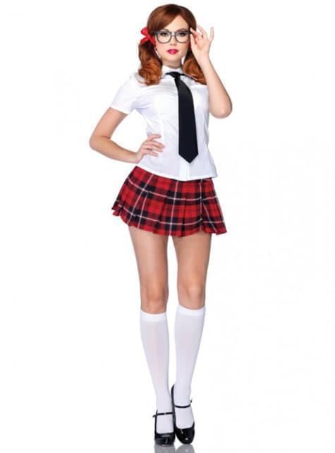 Disfraz de estudiante aplicada para mujer
